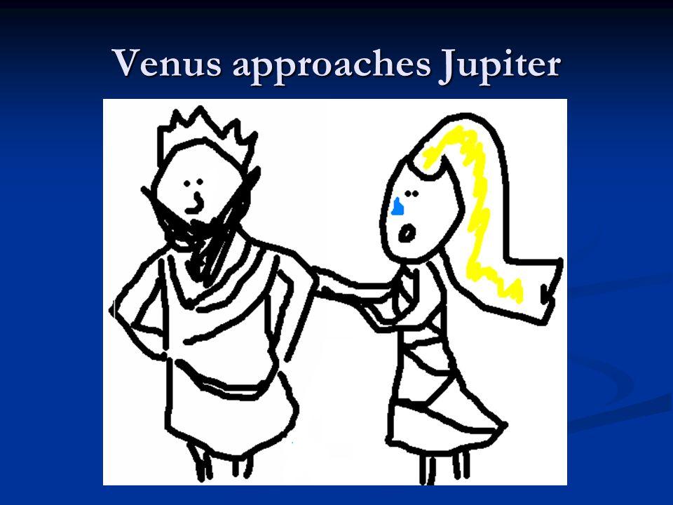 Venus approaches Jupiter