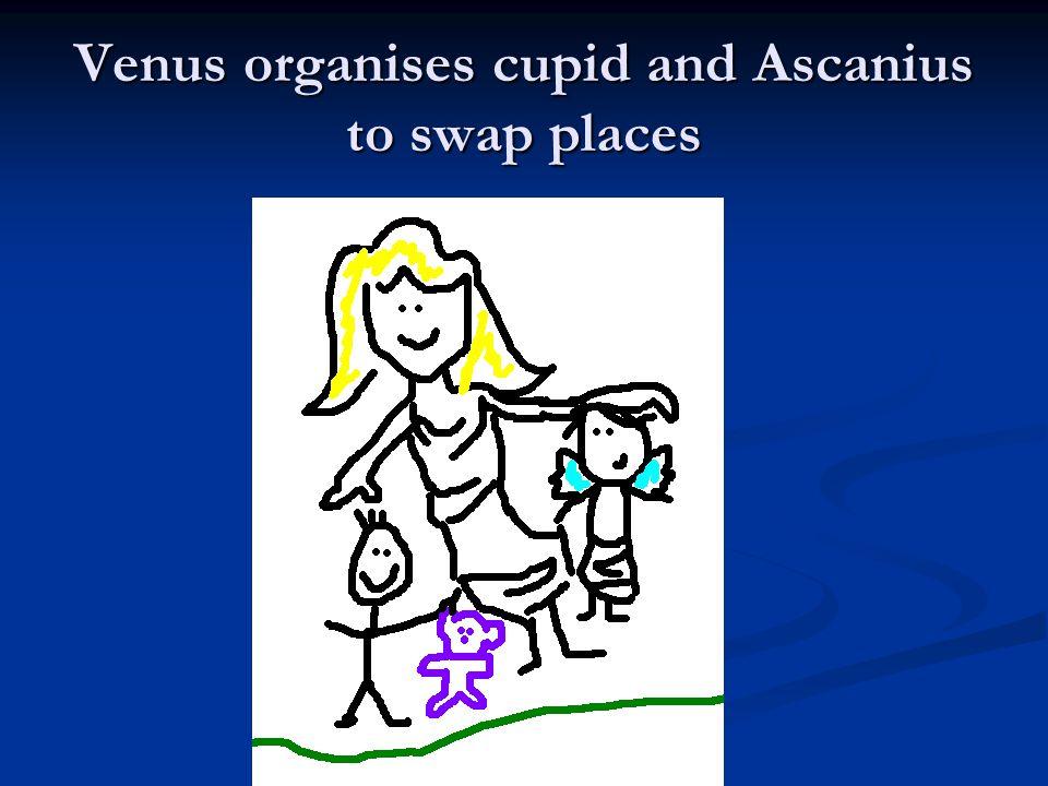 Venus organises cupid and Ascanius to swap places