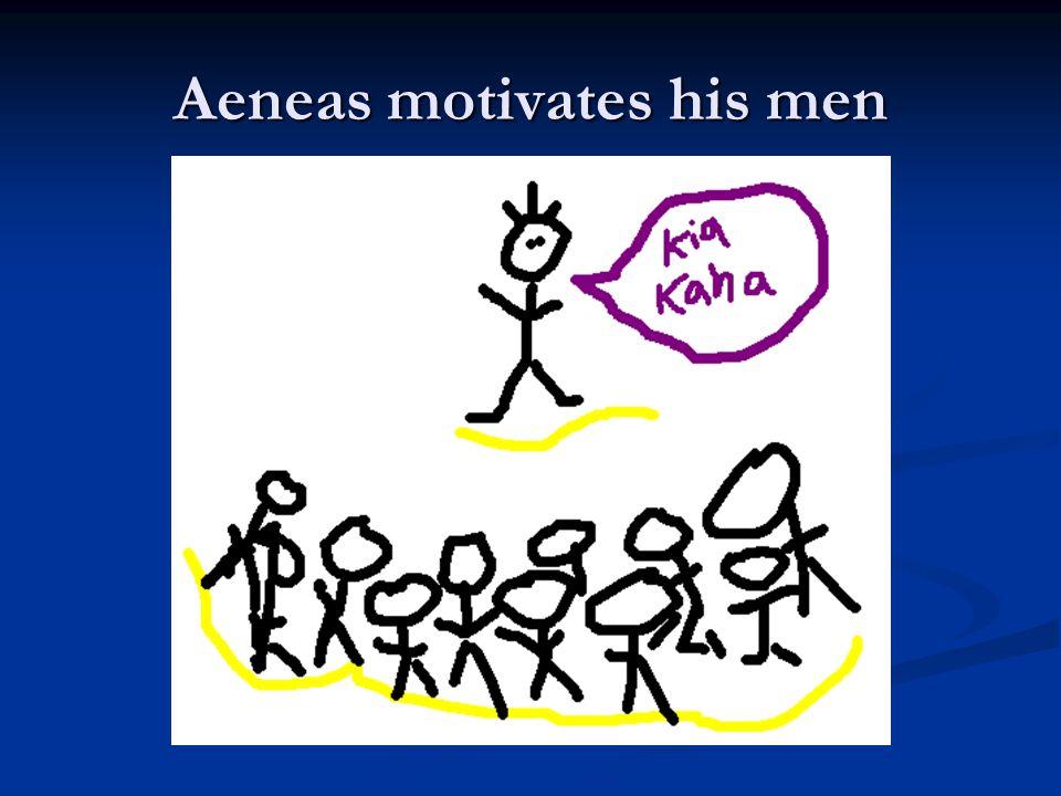 Aeneas motivates his men