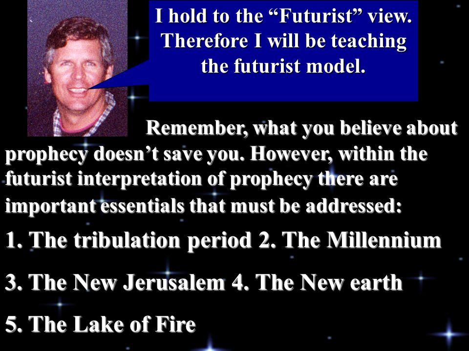The tribulation period 2. The Millennium
