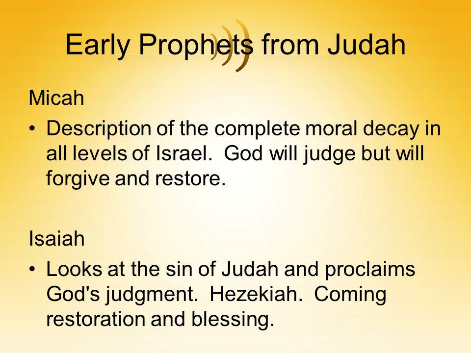 Early Prophets from Judah