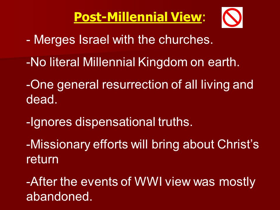 Post-Millennial View: