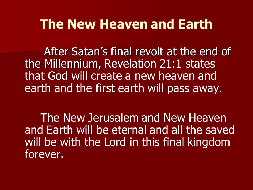 The New Heaven and Earth
