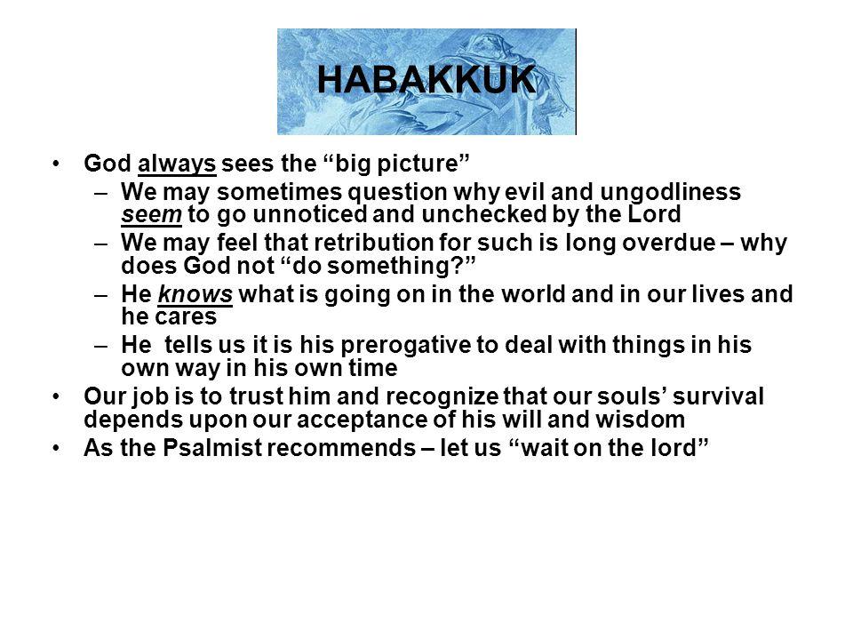HABAKKUK God always sees the big picture