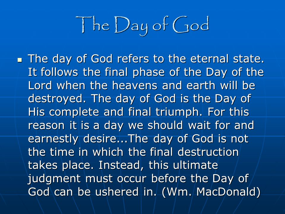 The Day of God