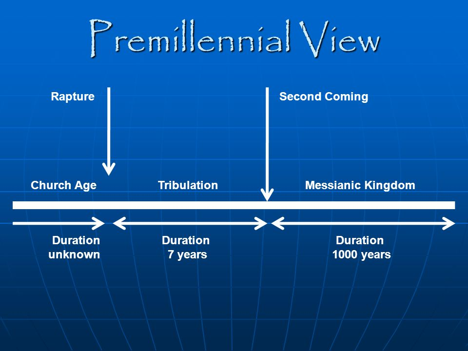 Premillennial View Rapture Second Coming Church Age Tribulation