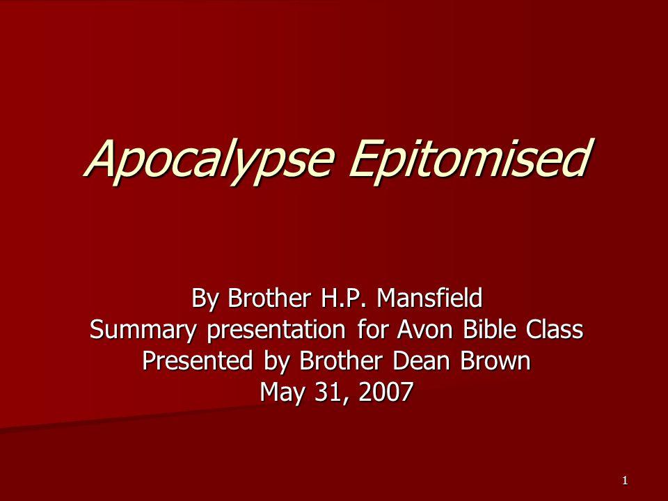Apocalypse Epitomised