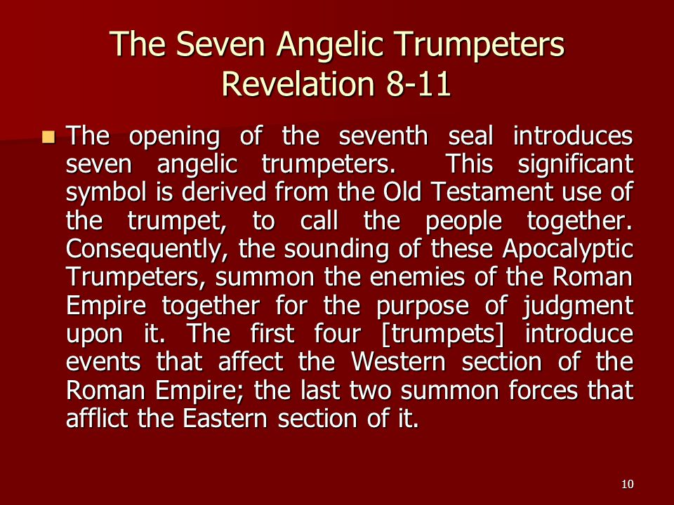 The Seven Angelic Trumpeters Revelation 8-11