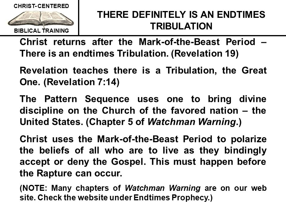 THERE DEFINITELY IS AN ENDTIMES TRIBULATION