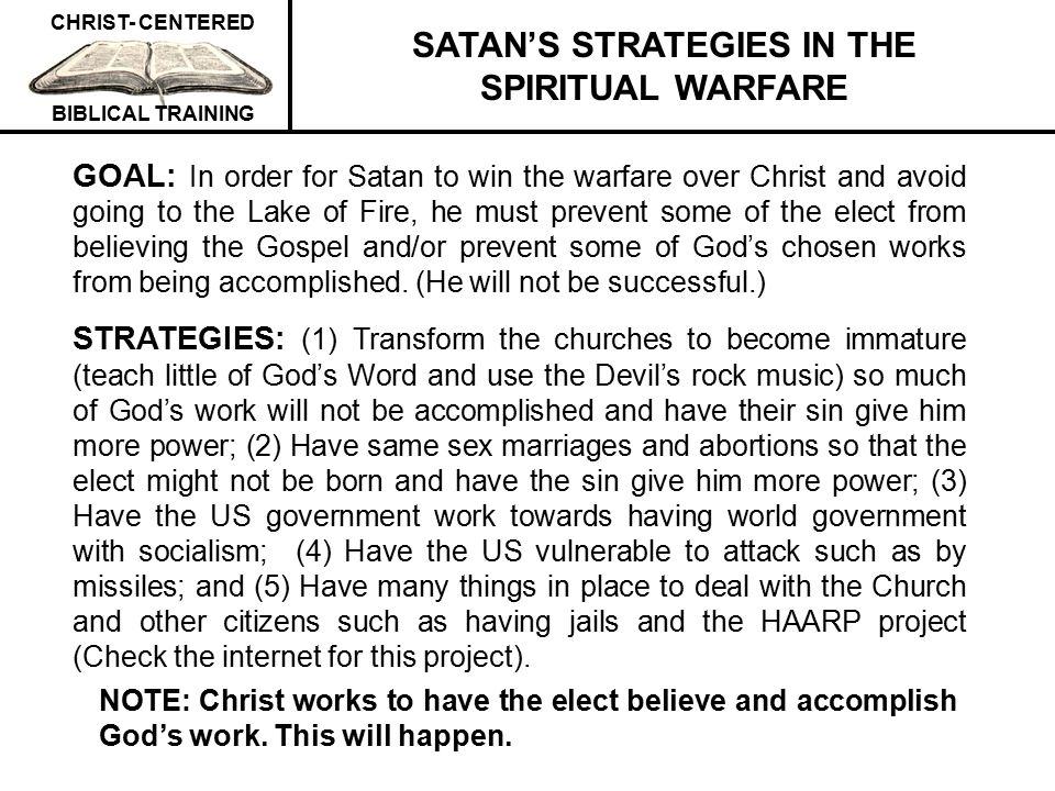 SATAN'S STRATEGIES IN THE SPIRITUAL WARFARE