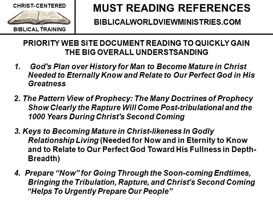 MUST READING REFERENCES