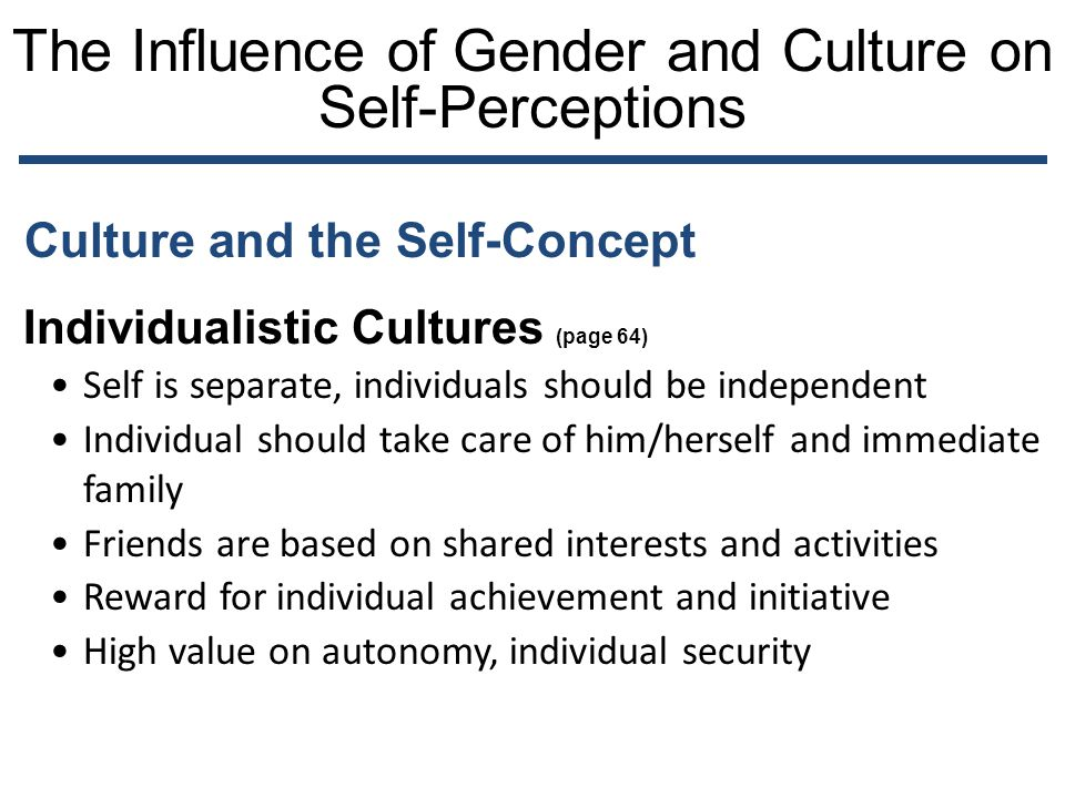 The Influence of Gender and Culture on Self-Perceptions