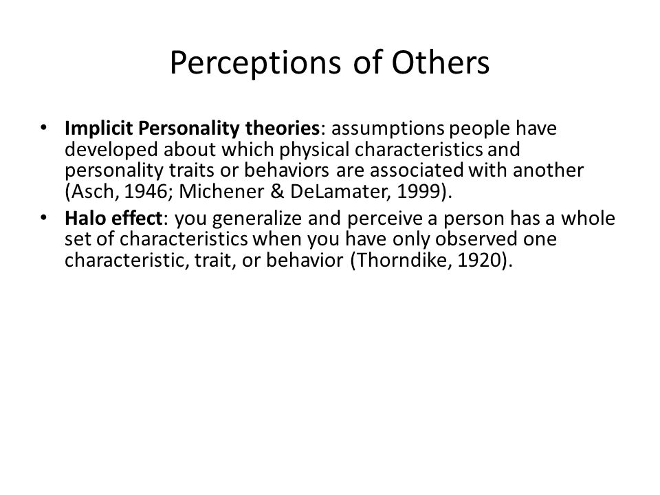 Perceptions of Others