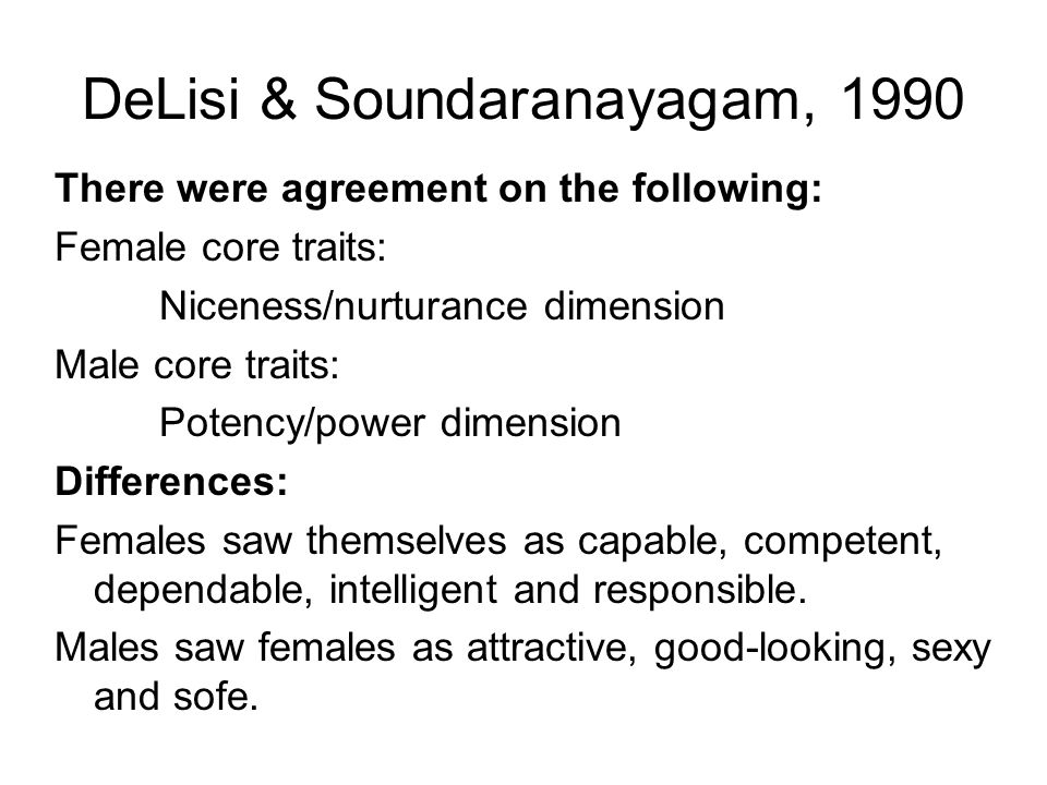 DeLisi & Soundaranayagam, 1990