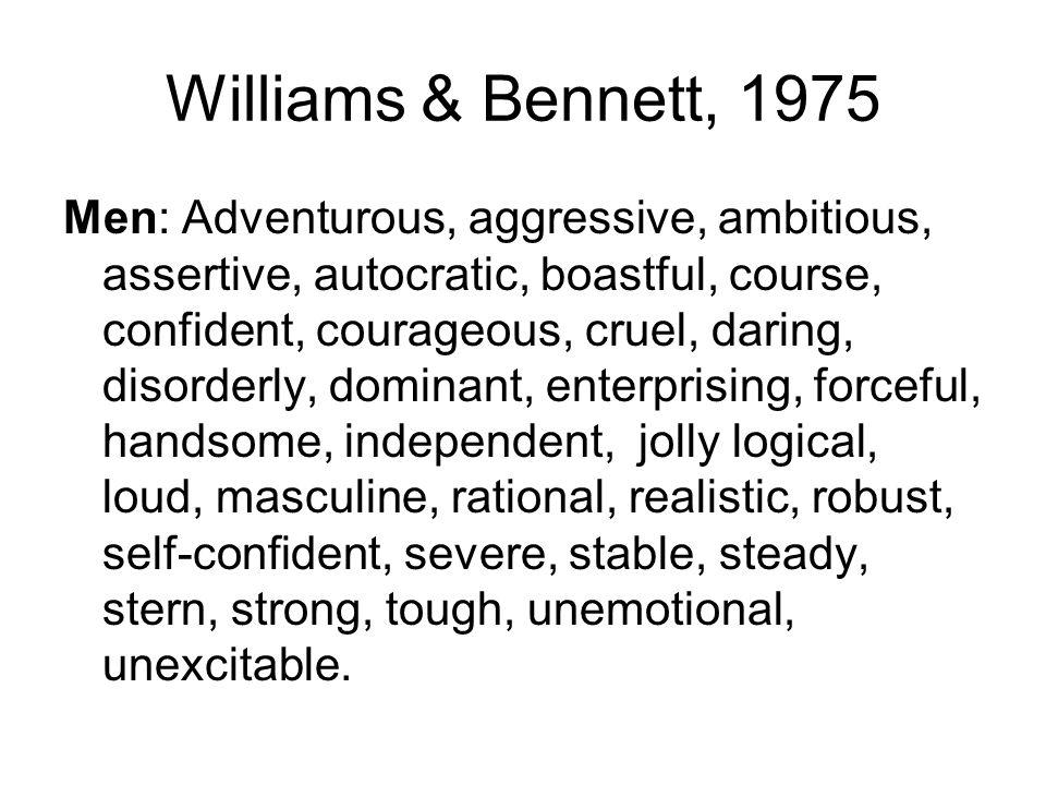 Williams & Bennett, 1975