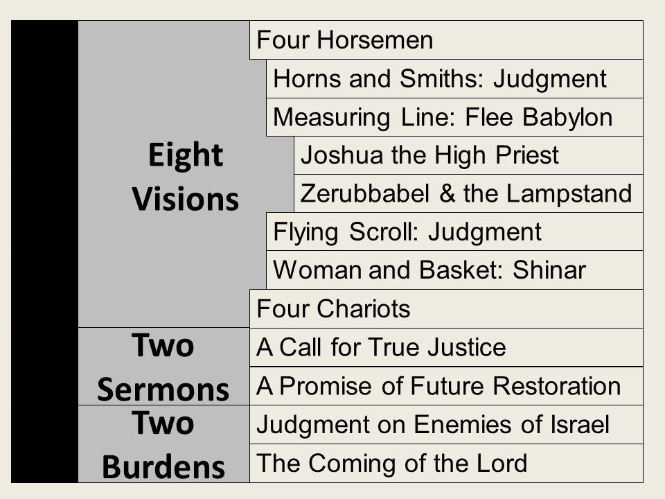 Eight Visions Two Sermons Two Burdens