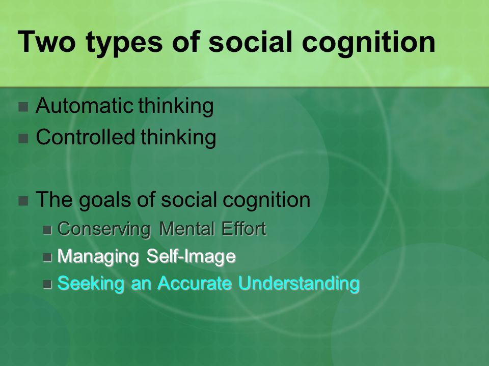 Two types of social cognition