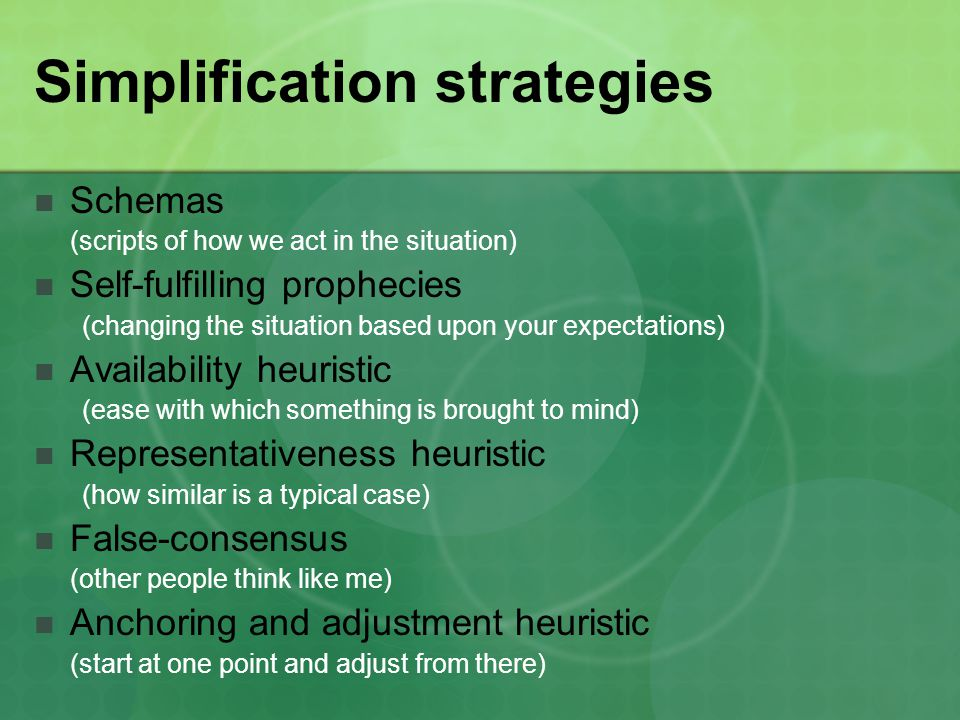 Simplification strategies