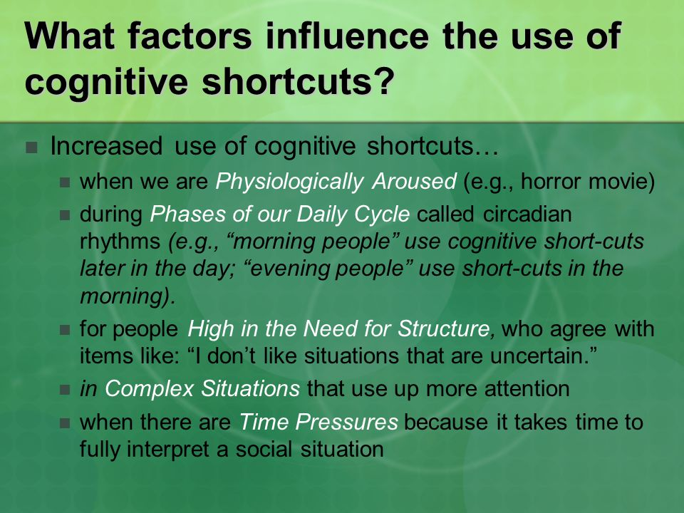 What factors influence the use of cognitive shortcuts