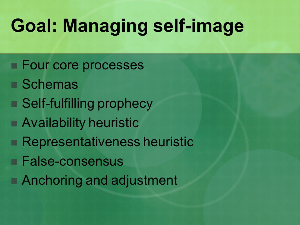 Goal: Managing self-image