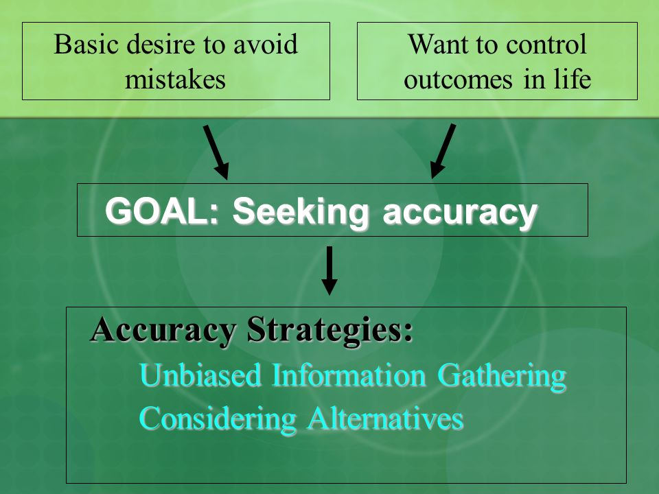 GOAL: Seeking accuracy