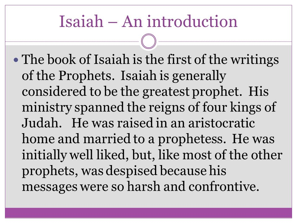 Isaiah – An introduction