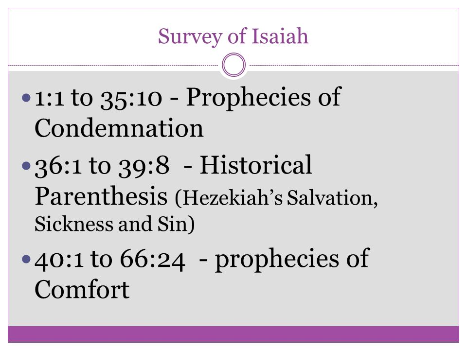 1:1 to 35:10 - Prophecies of Condemnation