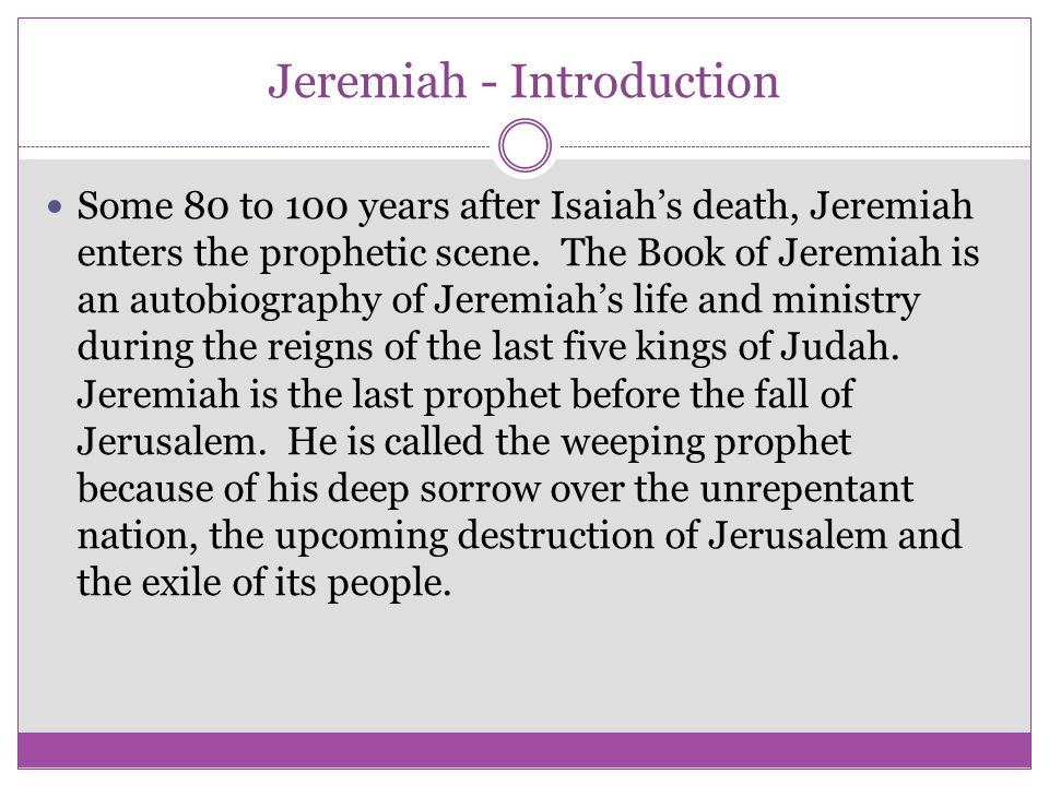 Jeremiah - Introduction