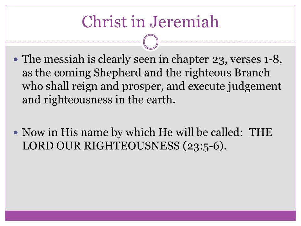 Christ in Jeremiah