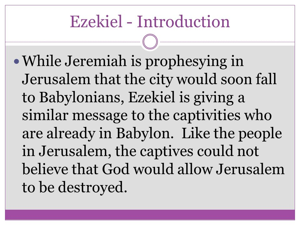 Ezekiel - Introduction
