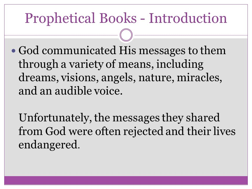 Prophetical Books - Introduction