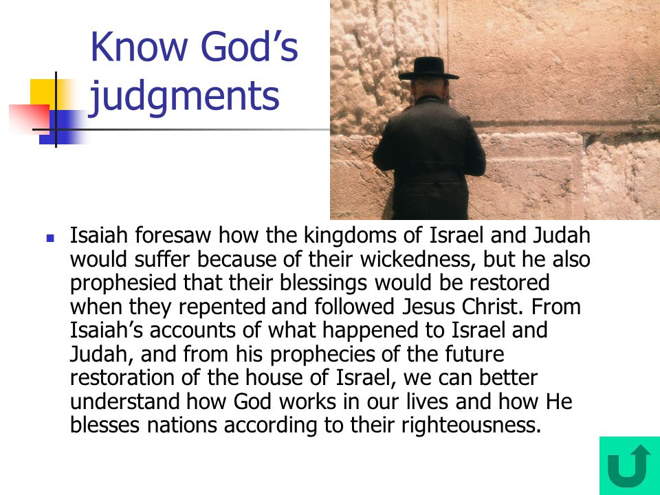 Know God's judgments