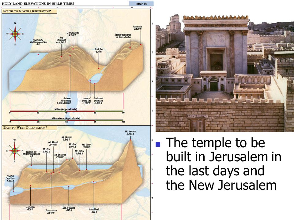 The temple to be built in Jerusalem in the last days and the New Jerusalem