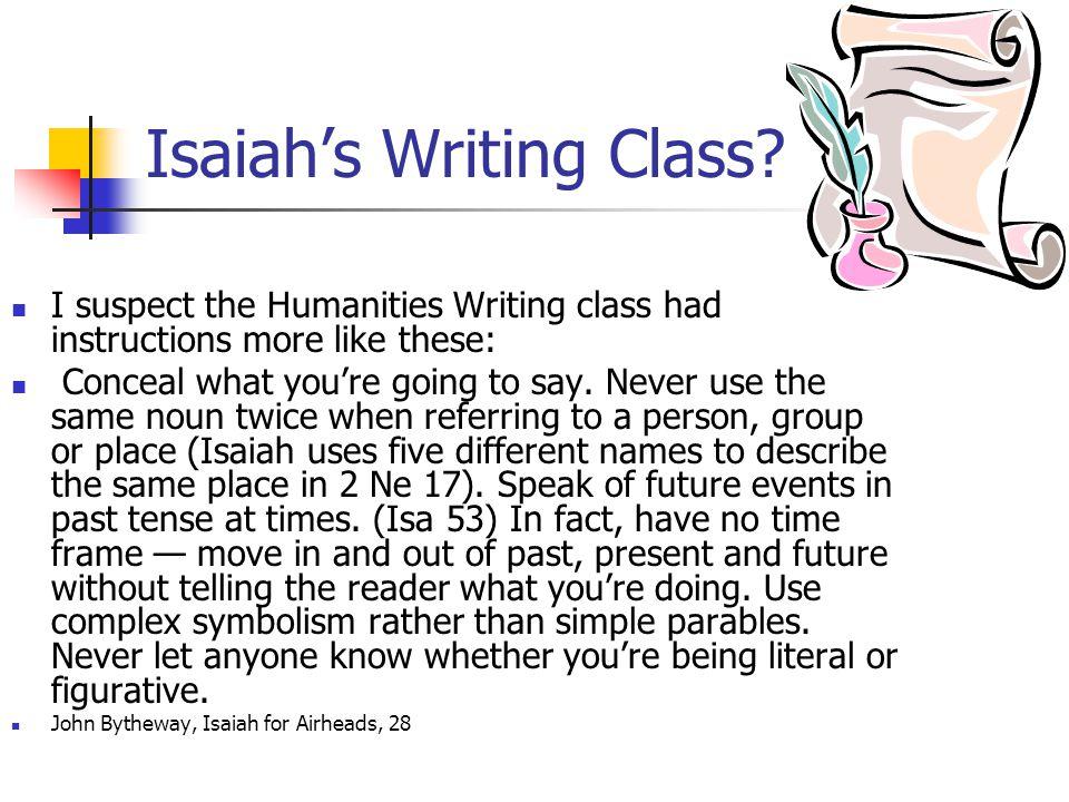 Isaiah's Writing Class