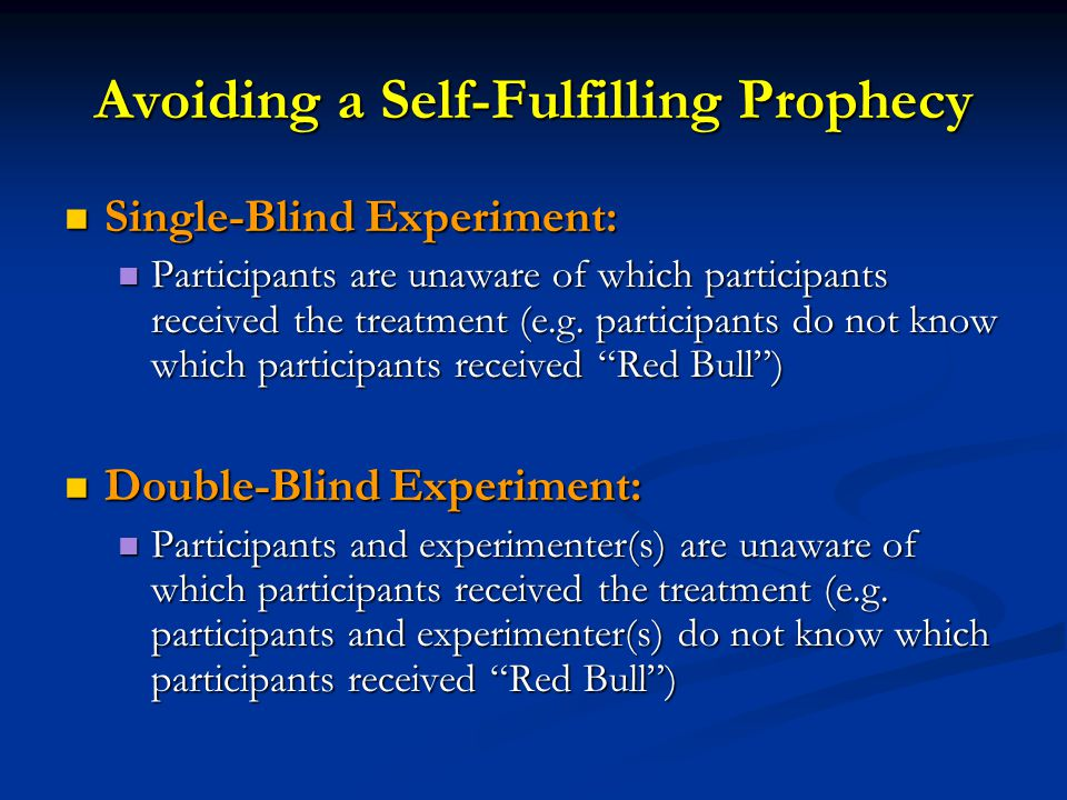 Avoiding a Self-Fulfilling Prophecy