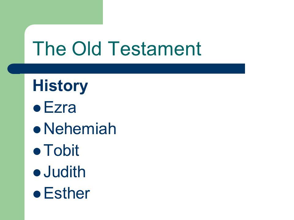 The Old Testament History Ezra Nehemiah Tobit Judith Esther