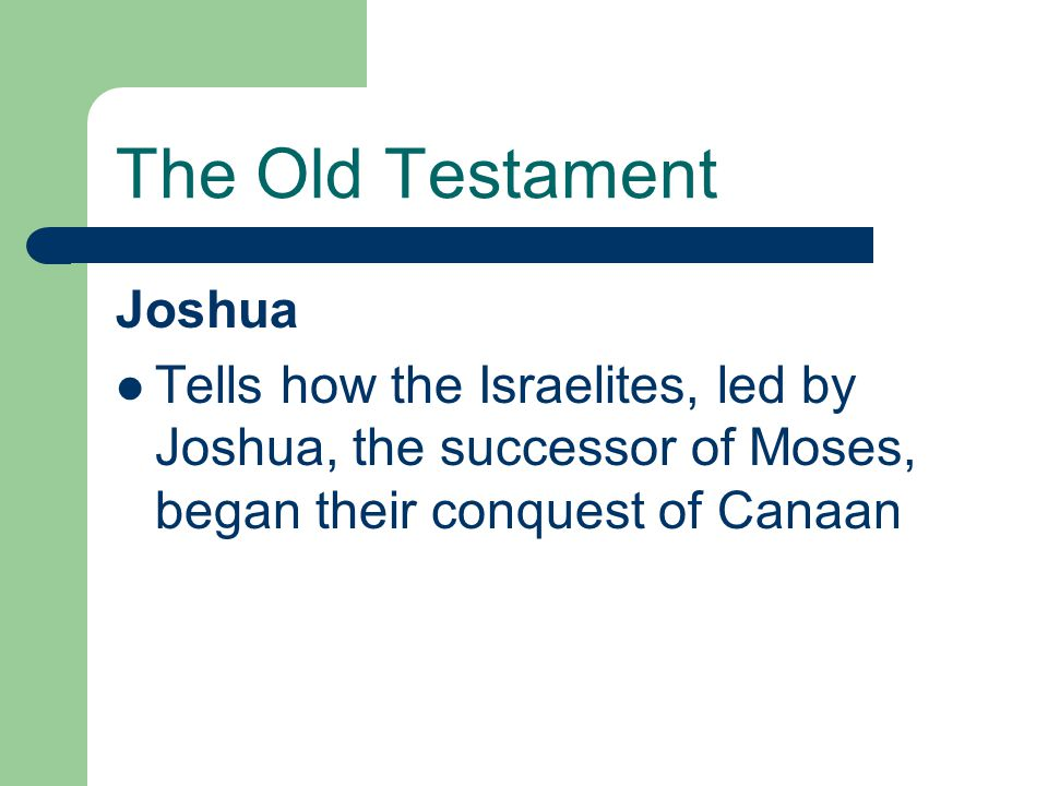 The Old Testament Joshua