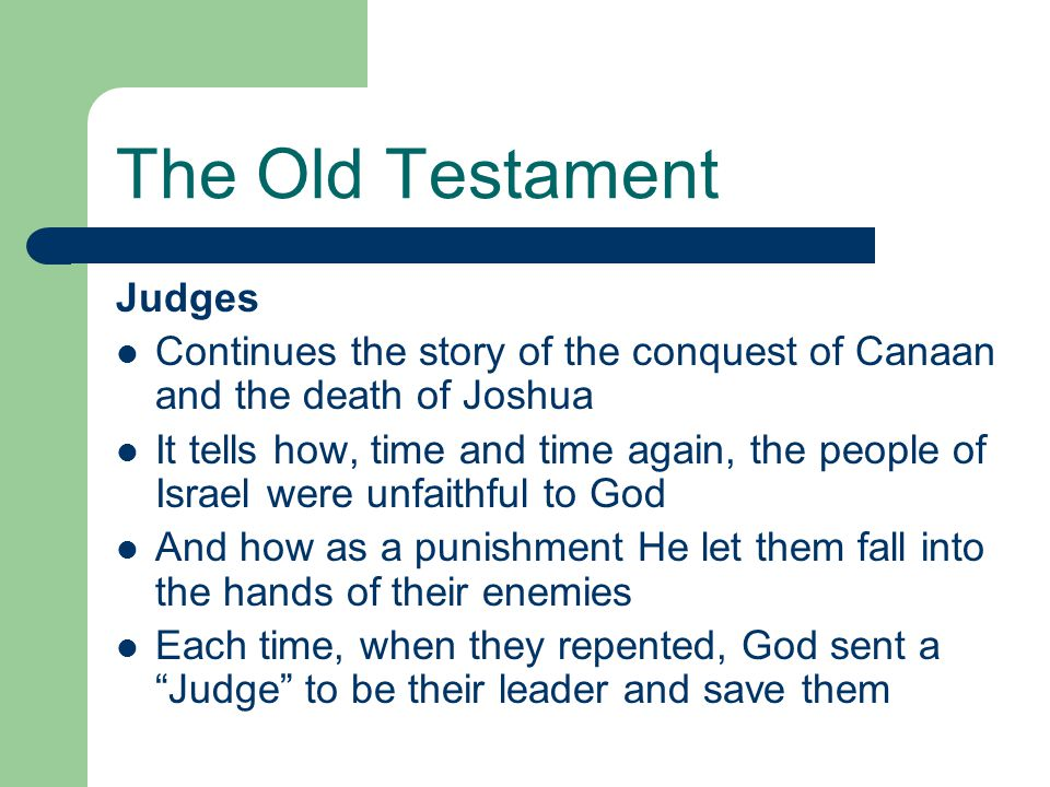 The Old Testament Judges
