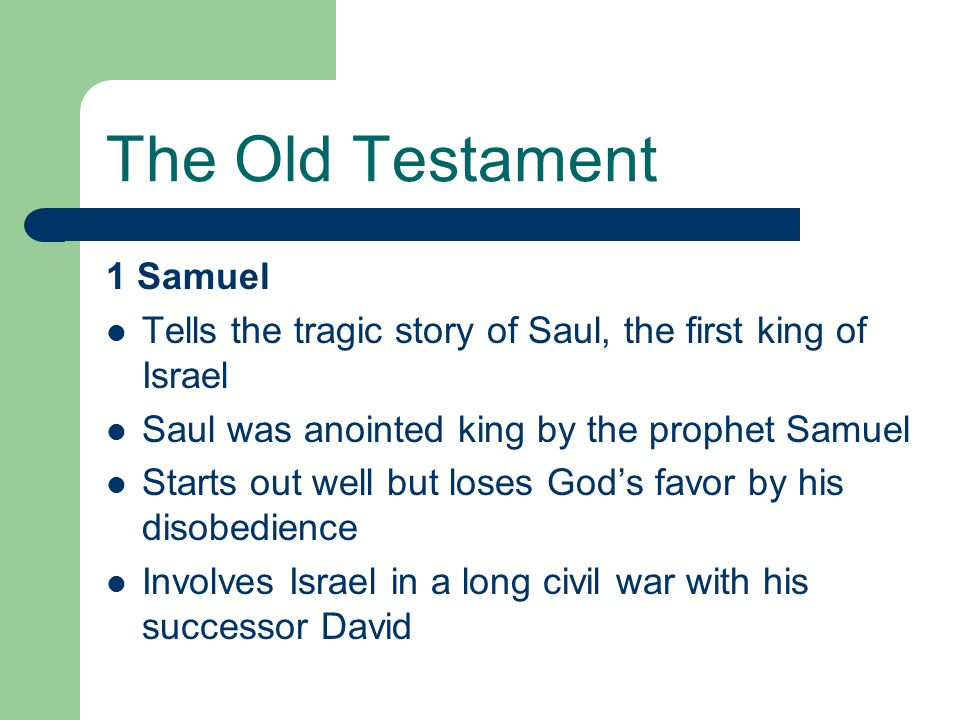 The Old Testament 1 Samuel