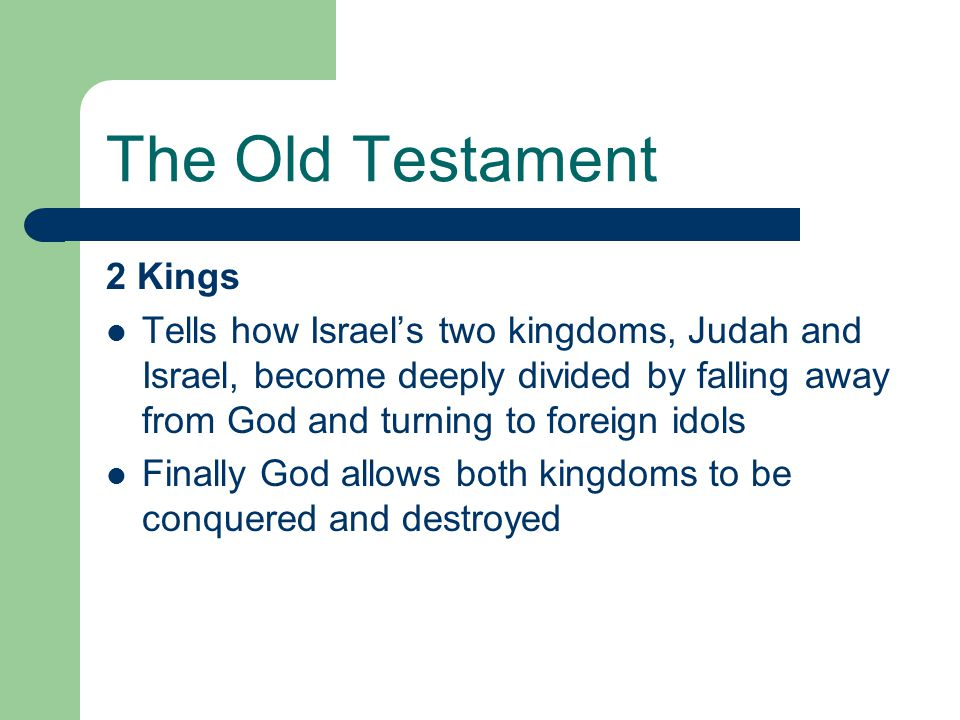 The Old Testament 2 Kings