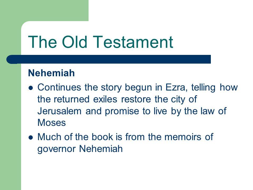 The Old Testament Nehemiah