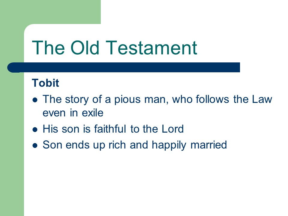 The Old Testament Tobit