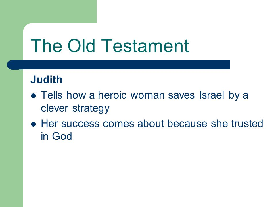 The Old Testament Judith