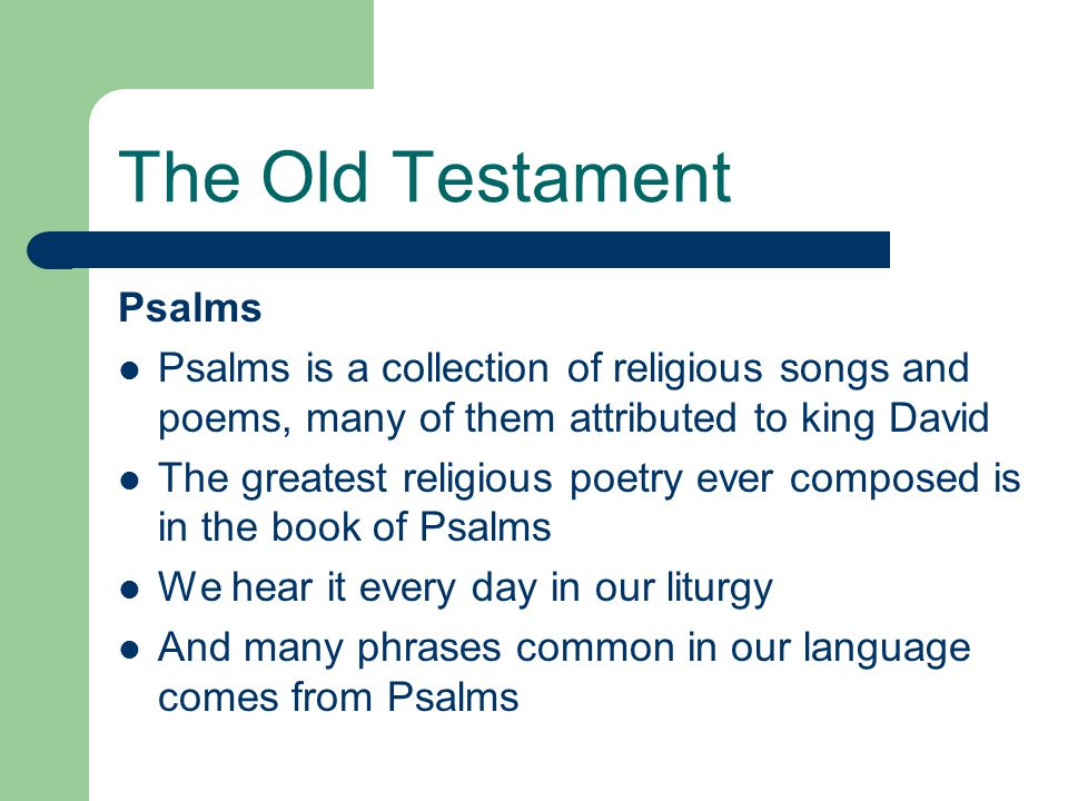 The Old Testament Psalms