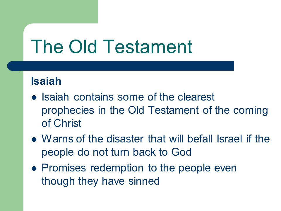 The Old Testament Isaiah