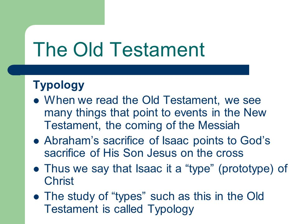 The Old Testament Typology