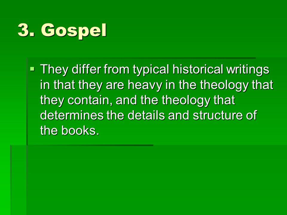 3. Gospel