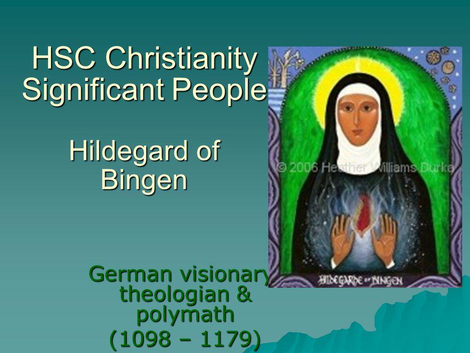 HSC Christianity Significant People Hildegard of Bingen
