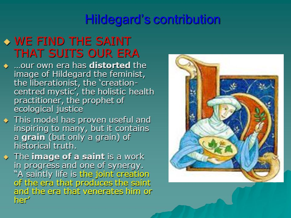 Hildegard's contribution
