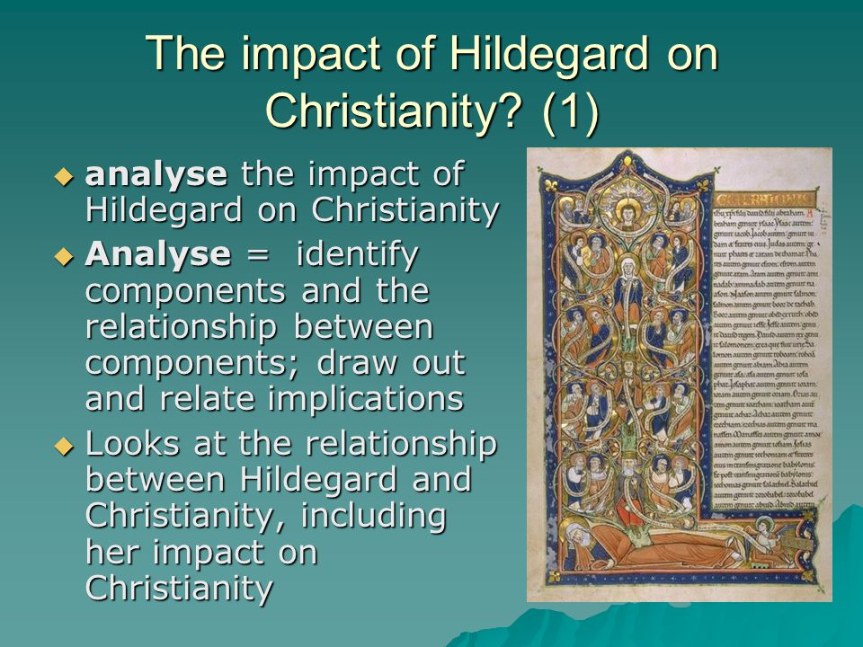 The impact of Hildegard on Christianity (1)